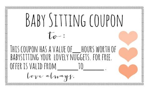 free printable gift certificates for babysitting 12 gifts you should get the new parents on your list
