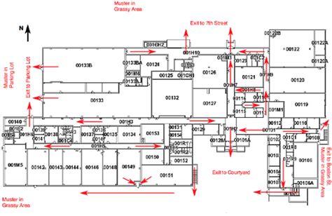 fire exit floor plan safety plan mechanical engineering ttu