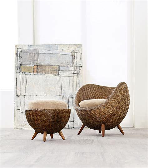 runde wicker ottoman fancy rattan chair la collection for modern