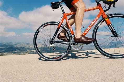 leather bike shoes leather cycling shoes sportivo classic 166 dromarti