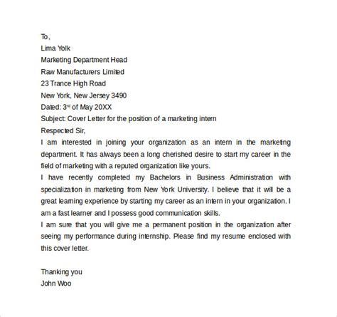 intern cover letter 13 internship cover letter exles to sle