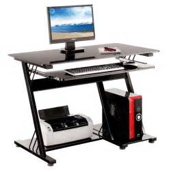 Computer Table Desk Home Office Table Pc Black Computer Desk Furniture New Ebay
