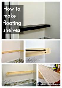 How To Make Wall Bookshelves How To Make Floating Shelves Create And Babble