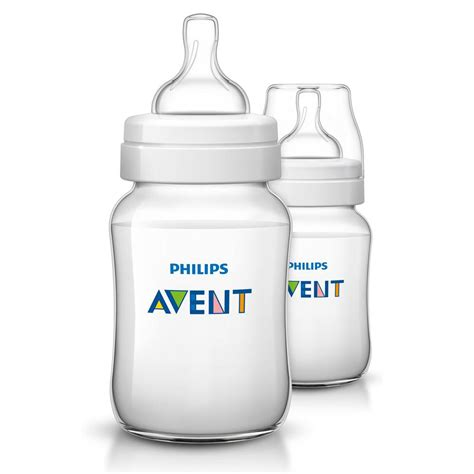 Avent Classic Bottle 125ml 2pack philips avent anti colic baby bottles clear