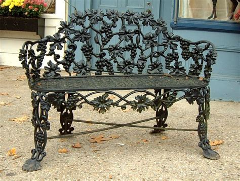 antique iron benches outdoor antique cast iron victorian garden lawn bench rust never