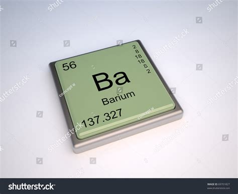 Ba On The Periodic Table by Barium Chemical Element Of The Periodic Table With Symbol