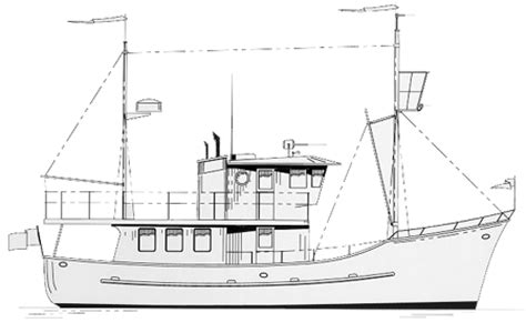 boat plans trawler small cruising boat plans learn how bodole