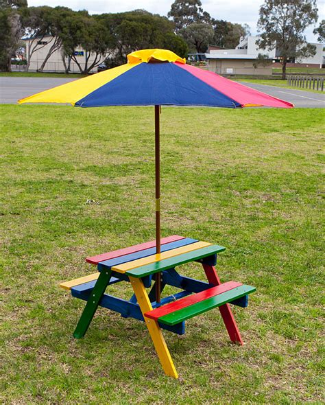 kids picnic bench kids picnic table setting w umbrella wooden children