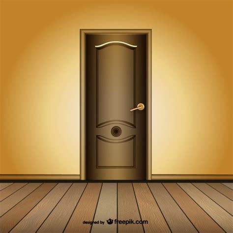 closed luxury door vector free