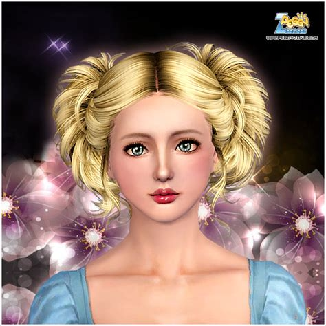 sims 3 princess hair two wavy ponytail hairstyle id 821 by peggy zone sims 3