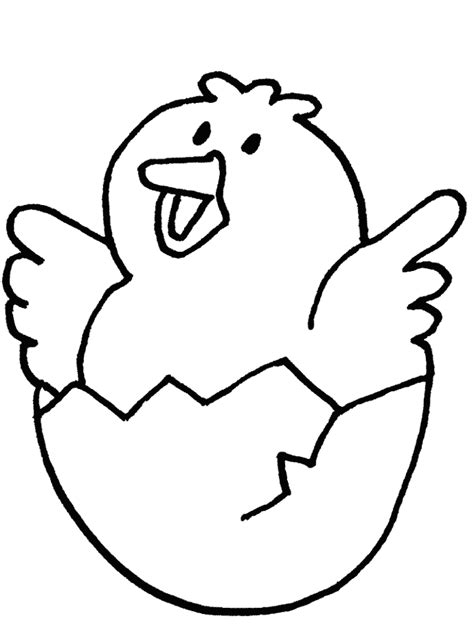 baby chicken cute animal coloring sheet for kids drawing