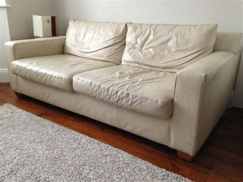 white leather sofa for sale in cabra dublin from alanwall