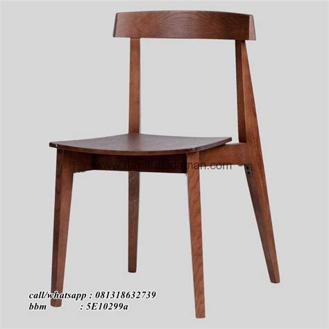 kursi cafe kayu jati woolnut kci 54 furniture idaman