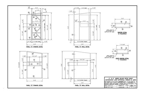 free shooting house plans please critic my 4x6 deer blind layout plans will follow later blinds feeders
