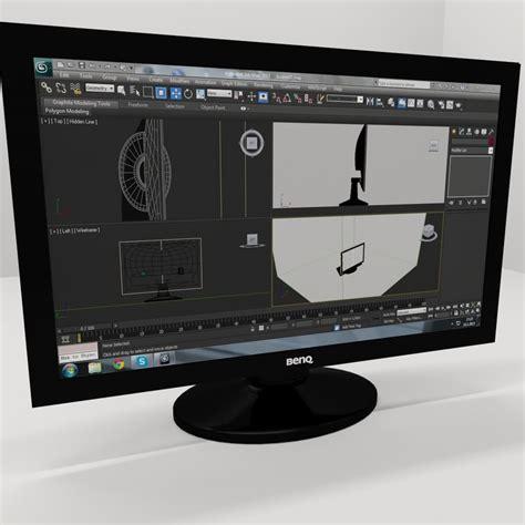 Komputer Pc Benq benq computer screen desktop 3d model