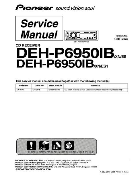 pioneer deh x6700bt wiring diagram efcaviation