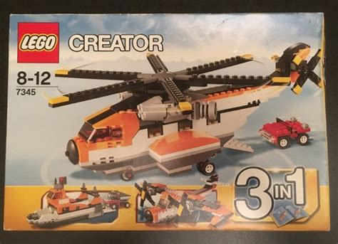 lego boat helicopter lego creator 3 in 1 boat airplane helicopter car unopened