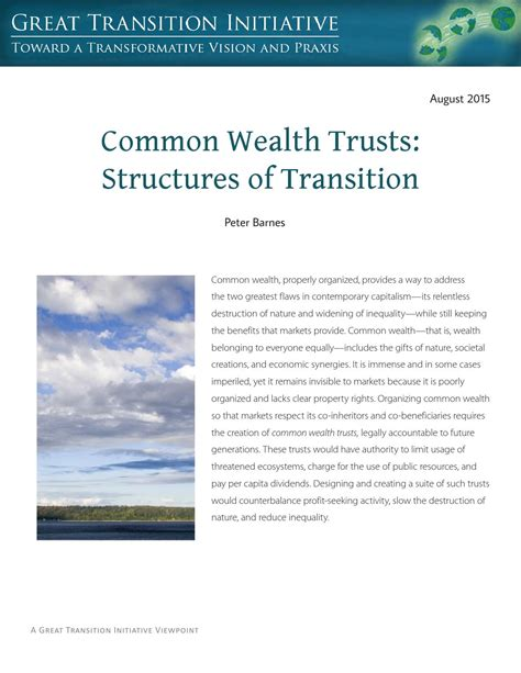 bridging generations transitioning family wealth and values for a sustainable legacy books common wealth trusts structures of transition by alois