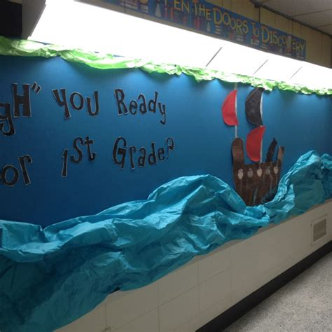 How To Make Waves With Paper - pirate theme bulletin board pirate ship