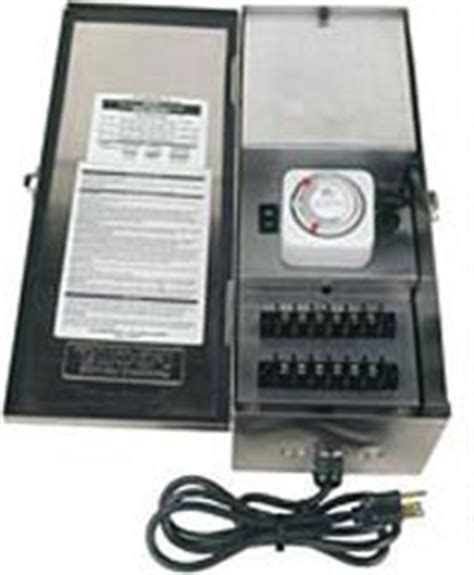 Landscape Lighting Transformer With Timer Low Voltage Landscape Lighting Transformers