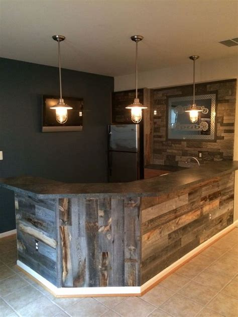 Bars For Home Use Home Bar Design Made Rustic With Stikwood Use It To