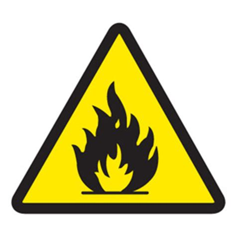 Self Adhesive by Warning Symbol Labels Flammable Materials Seton Canada