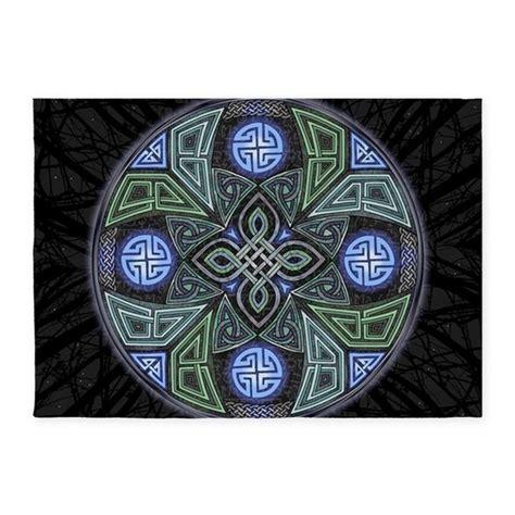 Celtic Ufo Mandala 5 X7 Area Rug By Artoffoxvox Celtic Area Rugs