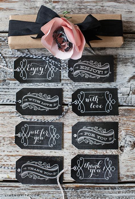 printable gift labels tags by the lia griffith printable chalkboard gift tags lia griffith