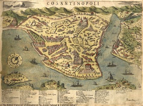 Empereur Ottoman by Map Of The City Of Constantinople Byzantium