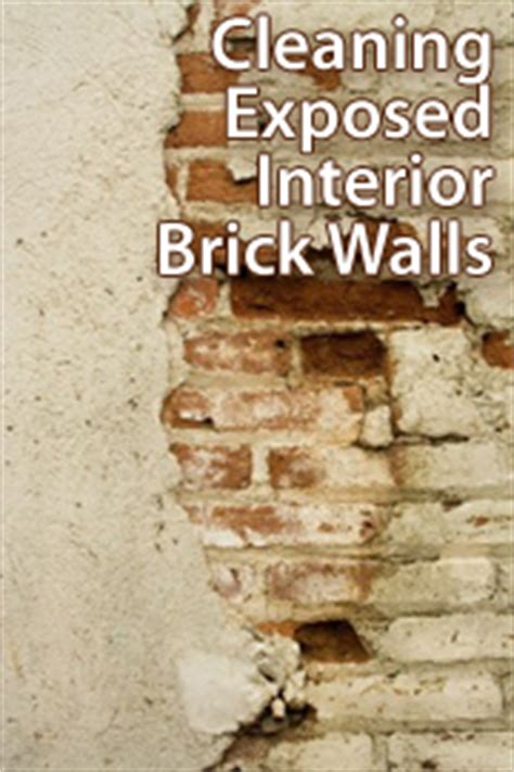 Cleaning Interior Brick by How To Clean An Exposed Interior Brick Wall Benchmark