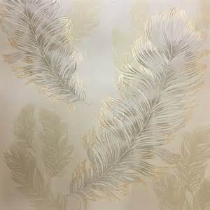 Vintage Black And White Bathroom Ideas Arthouse Sirius Wallpaper Gold 673601 An Elegant Feather