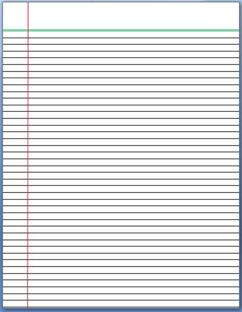 lined notebook paper template word lined paper template format template