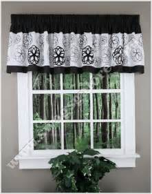 Kitchen Curtains Black And White Black And White Curtains For Kitchen Curtain Ideas