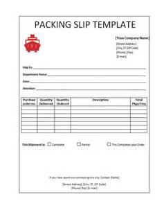 Picking Slip Template by Blank Packing Slip Template Helloalive