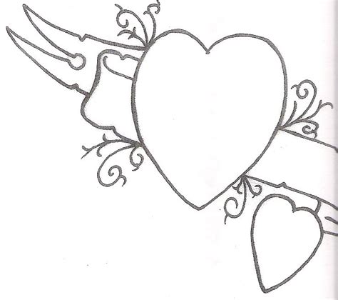 heart tattoo designs with banner cool banner and hearts tattoos designs