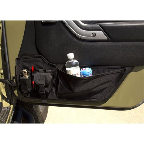 jeep wrangler storage jeep wrangler jk door storage panel rugged ridge 13551 75
