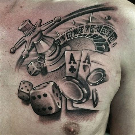 roulette wheel tattoo designs black and grey by gerrit bekman