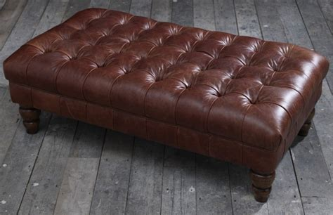 leather ottoman uk vintage brown leather footstool stools