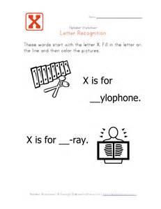 letter x alphabet recognition worksheet learning