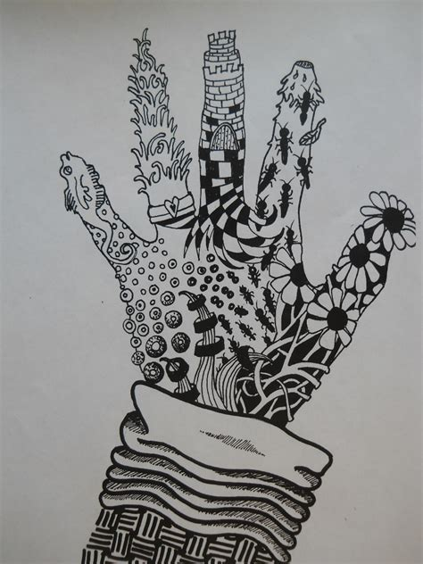 Artistic Home Design Inc by Fun Art 4 Kids Zentangle Hands