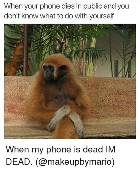 Phone Died Meme - when your phone dies in public and you don t know what to