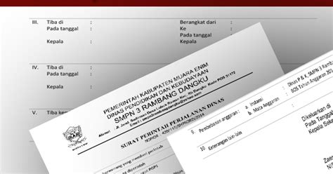 contoh surat perjalanan dinas sppd sekolah doc
