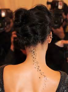 Rihanna stars nape tattoo chic and dainty tattoos that will give you a