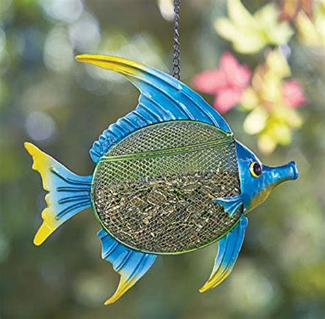 Fish Bird Feeder Sea Fish Shaped Metal Bird Feeder Animals Pet