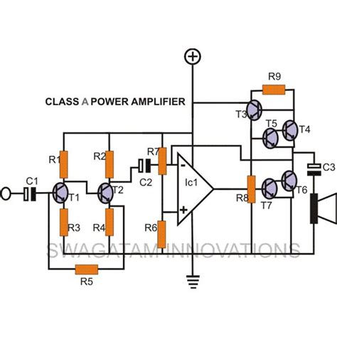 transistor power lifier built up how to make a diy class a lifier simple construction using circuit schematic explained