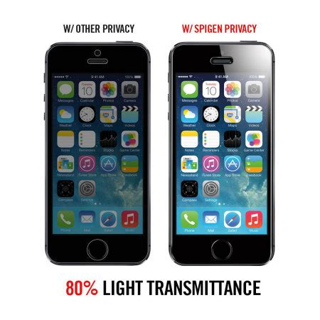 Sgp Slim Iphone 5c spigen iphone 5s 5c 5 glas tr slim privacy screen