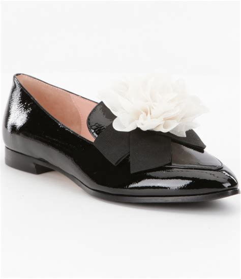 kate spade loafers kate spade cinda patent leather flower detail loafers in