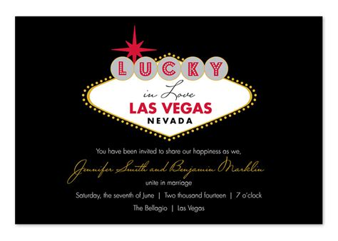 las vegas themed invitation wording lucky in las vegas wedding invitations by invitation