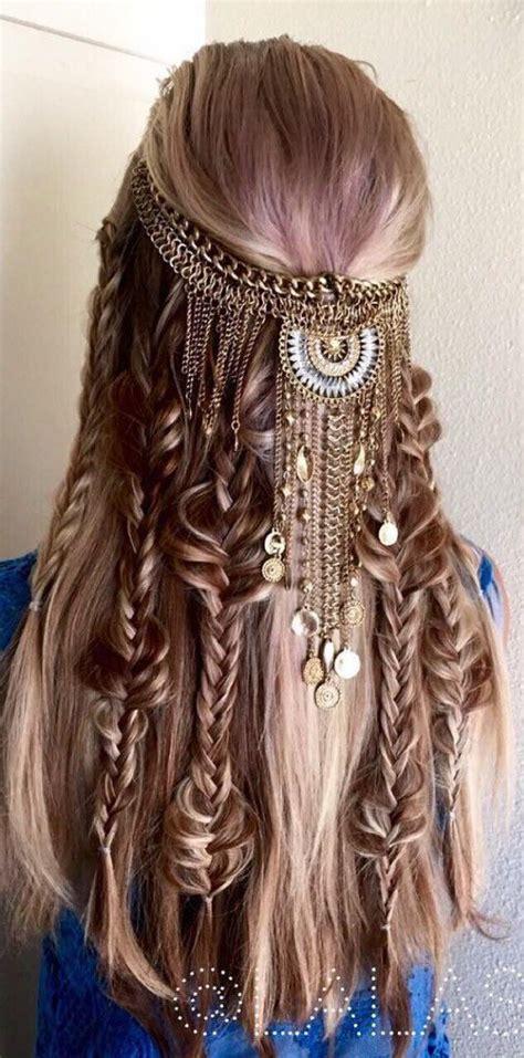 hippie hairstyles for long hair best 25 hippie hair styles ideas on pinterest hippie