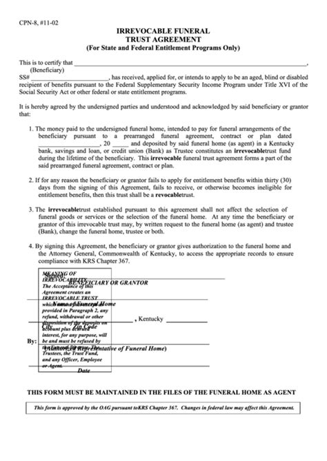Top 5 Irrevocable Trust Form Templates Free To Download In Pdf Format Irrevocable Trust Template